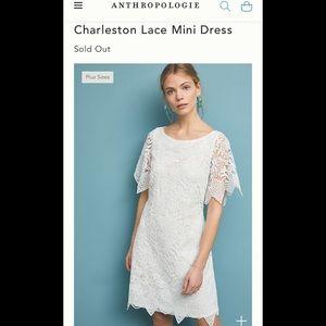 New Anthropologie 4P Charleston Lace Mini Dress